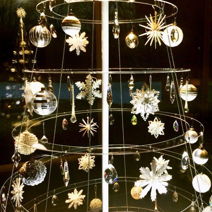 Crystal Clear Modern Christmas Tree