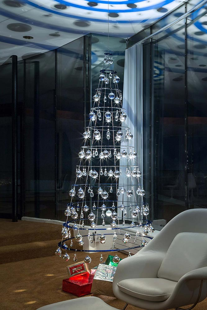 Choose Design Clear Acrylic Hanging Tree Decorations Christmas