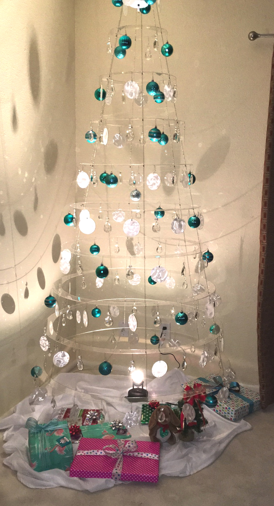 Artificial Clear Modern Christmas Tree