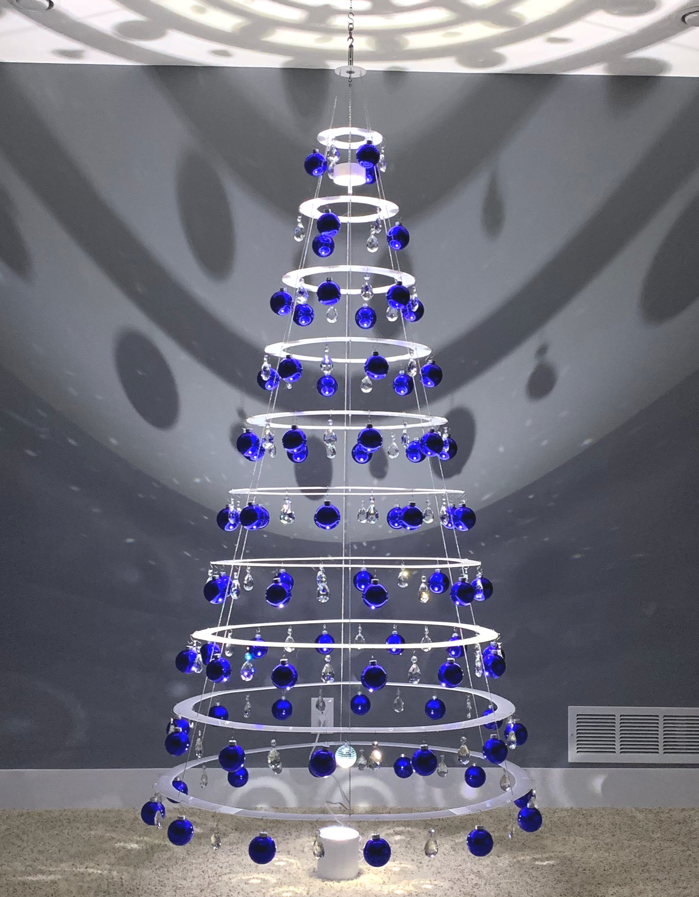 artificial collapsing pearl white christmas tree