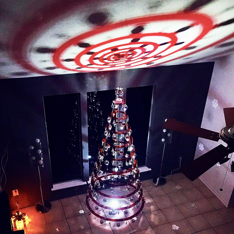 Ruby Red Modern Christmas Tree