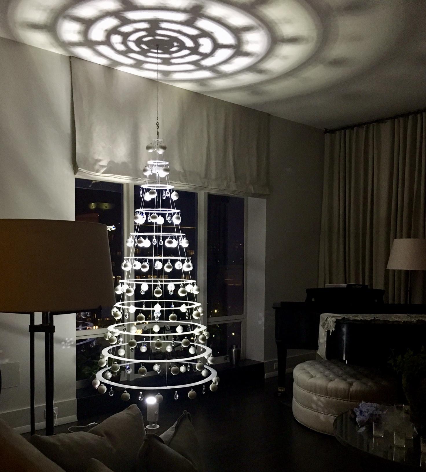 hanging pearl white christmas tree