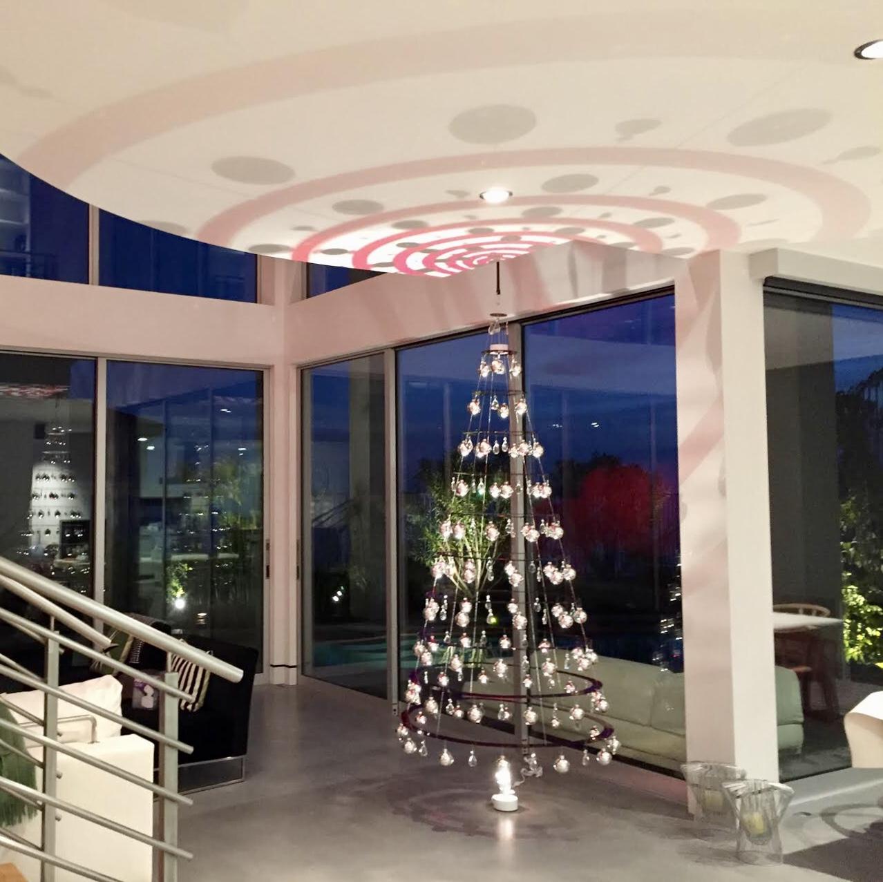 Retro Red Christmas Tree