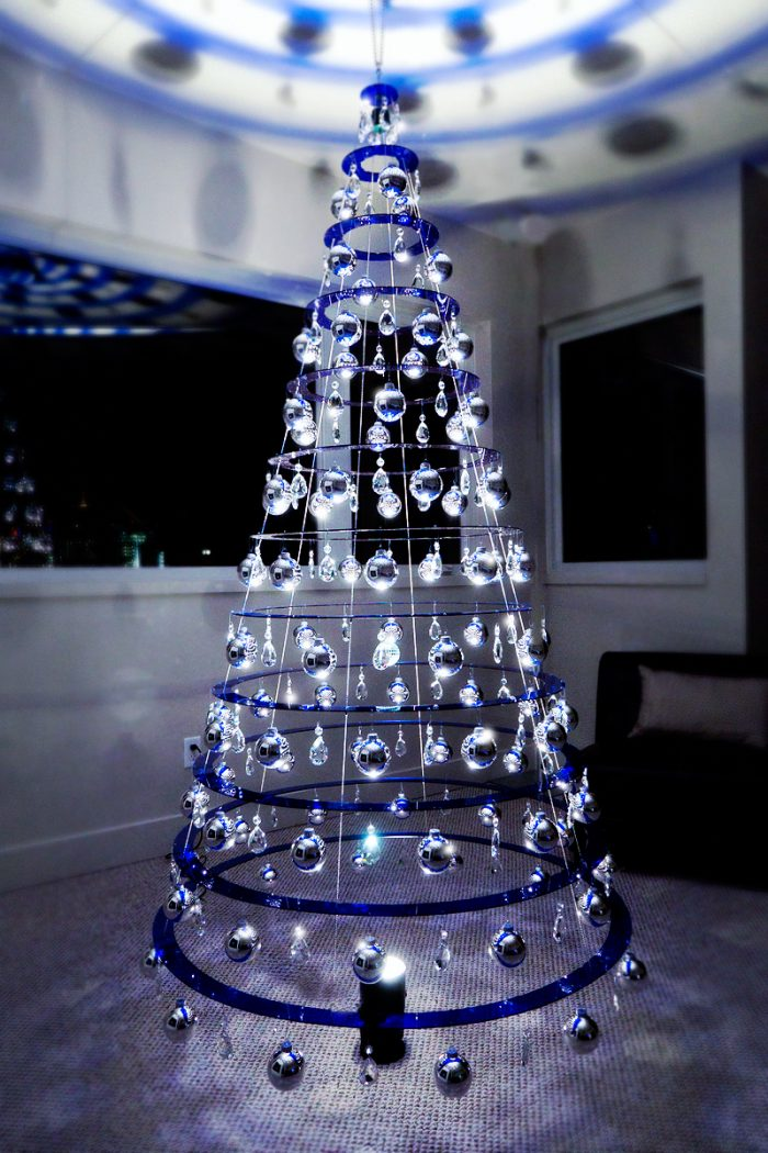 Buy Blue Modern Christmas Trees | Sapphire Blue Christmas Tree