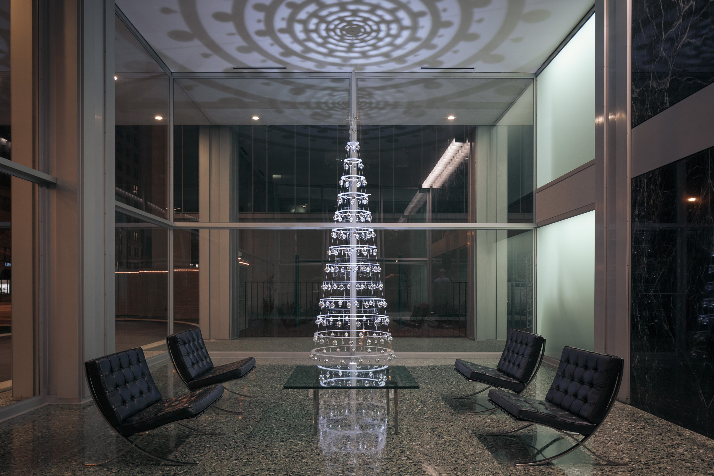 Tall Modern Christmas Tree