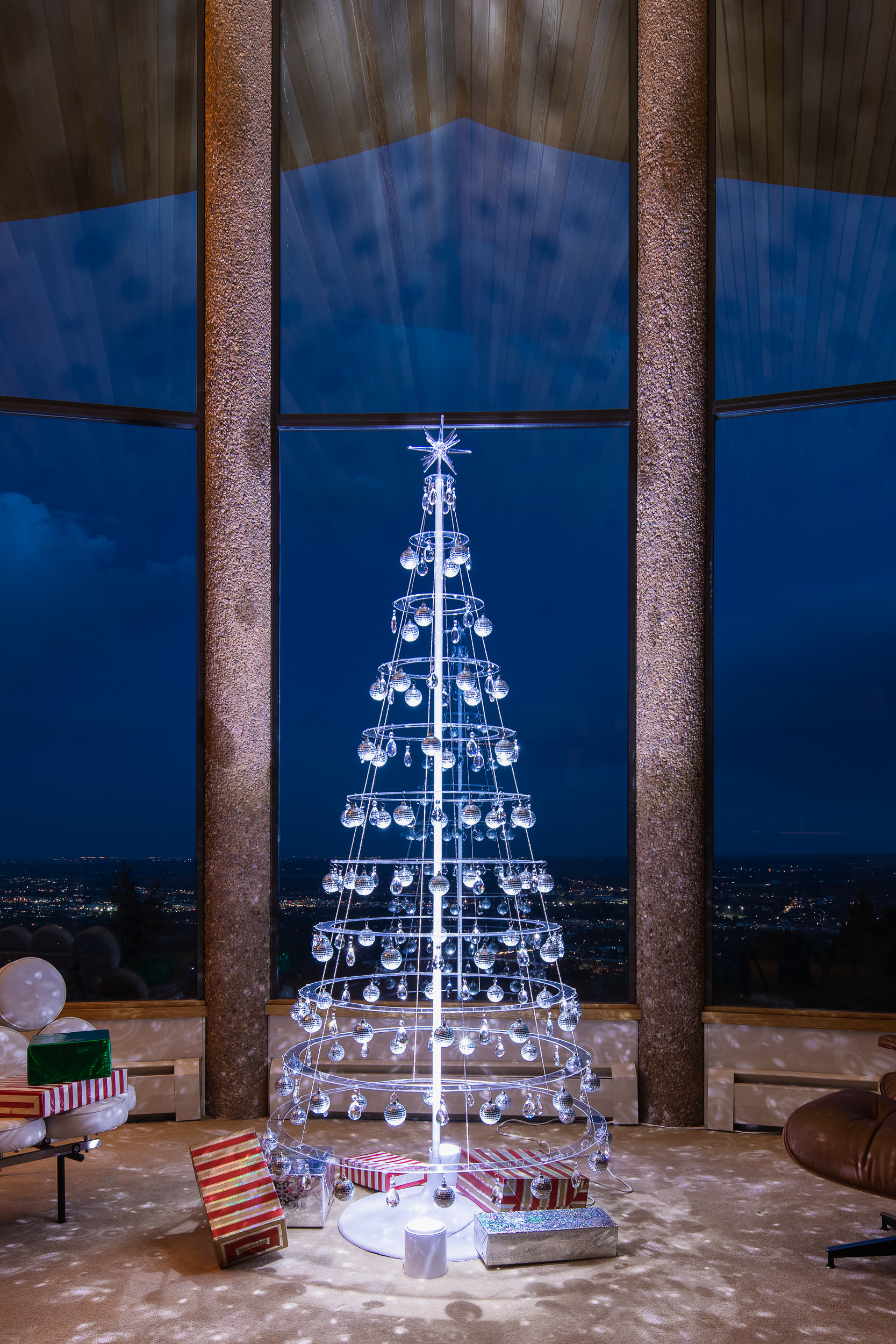 Clear Modern Christmas Tree with Tree Stand