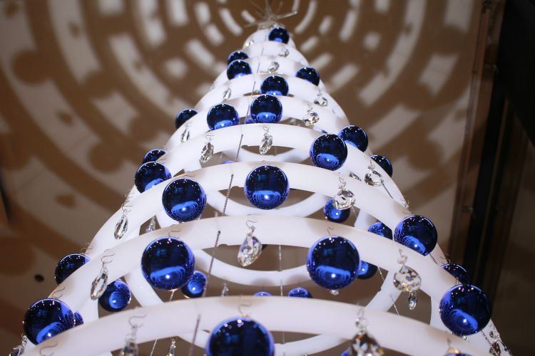blue modern Christmas tree